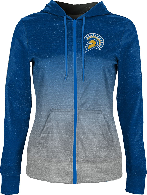 Ombre School Spirit Sweatshirt San Jose State University Girls Pullover Hoodie