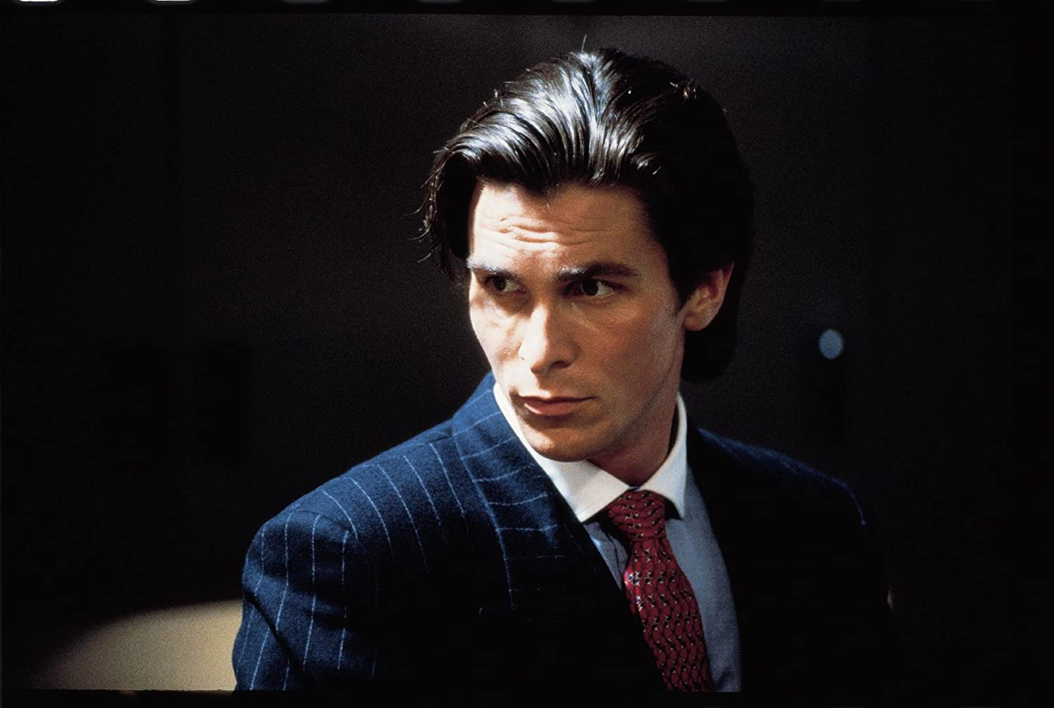 Amazing christian bale business card embellishment business card american psycho business cards video images card design and card reheart Gallery