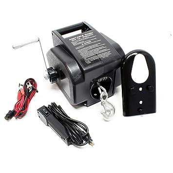 Cabrestante Torno Kg Cable Tracción Winche Hasta 12v Outdoor 4990 Eléctrico Cargas kXZiOuPT