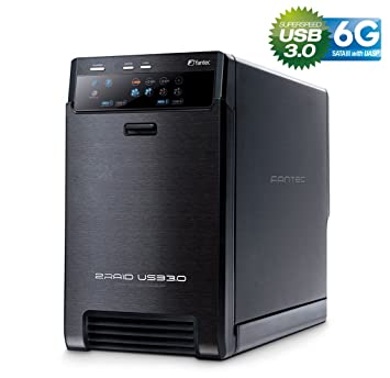 FANTEC QB-X2US3R - carcasa externa para el montaje de 2 discos duros de 8