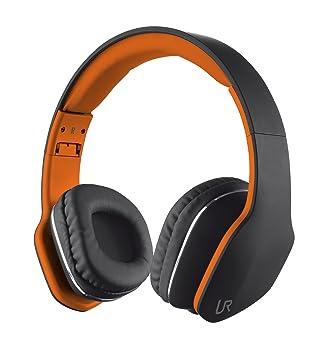 Trust Urban Mobi - Auriculares de diadema cerrados, negro y naranja