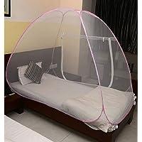Miamour Foldable Mosquito Net Size Single Bed (Multicolour, Nylon)
