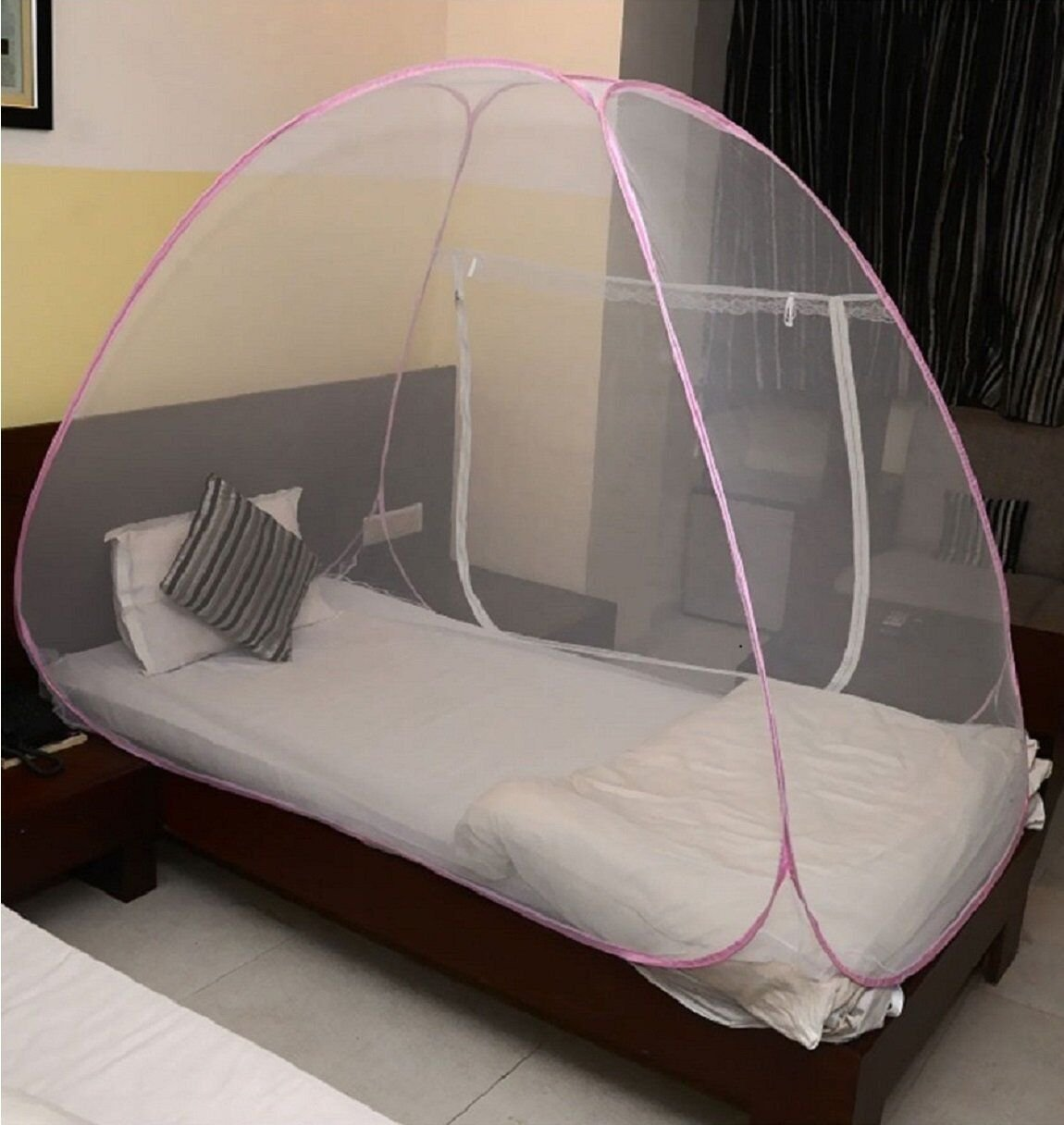 Miamour Foldable Mosquito Net Size Single Bed (Multicolour, Nylon)