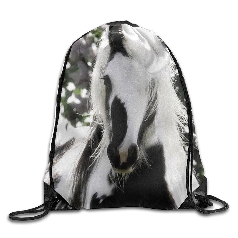 Doormat bag Lovely Cheval Unisexe Cordon de serrage Sac à dos de voyage Sac de sport avec cordon Faisceau Port Sac à dos.