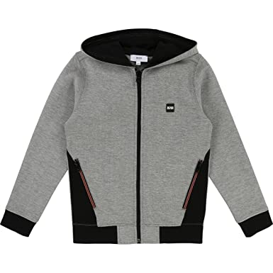 996185c3240d Image Unavailable. Image not available for. Color  Hugo Boss Kids Boys Full  Zip Hoodie Cardigan Sweater ...