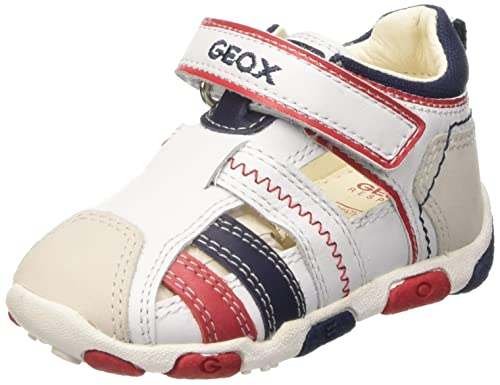 f66cbabb Geox B Balu' Boy B - Zapatos Primeros Pasos de Piel para niño Blanco Size