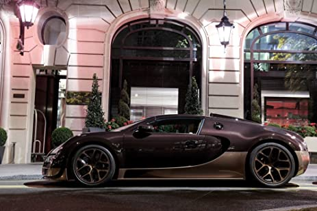 Poster Of Bugatti Veyron Rembrandt Edition Left Side HD 48 X 32 Inch Print