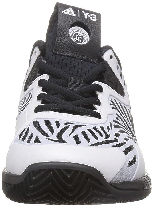 Adidas Adizero Y3 2016, Zapatillas de Tenis para Hombre, Negro/Blanco/Rojo (Negbas/Ftwbla/Ftwbla), 39 1/3 EU