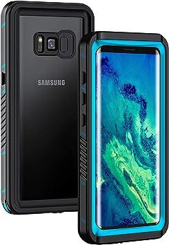 Lanhiem Funda Impermeable Samsung S8, Carcasa Sumergible Resistente Al Agua IP68 Certificado [Protección de 360 Grados], Carcasa para Samsung Galaxy S8 con Protector de Pantalla Incorporado,Azul: Amazon.es: Electrónica