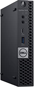 Dell OptiPlex 7070 MFF Desktop Computer Intel Core 9th Gen i7-9700T 2.00GHz to 4.30GHz 8-Cores CPU 16GB DDR4-2666MHz Memory 256GB NVMe PCIe SSD Windows 10 Pro (Renewed)