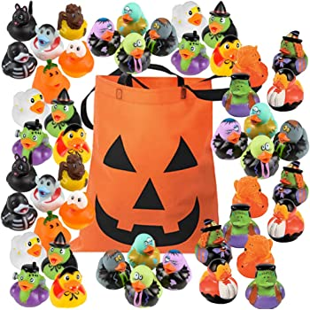 Amazon Com Mini Glow In The Dark Halloween Rubber Ducks