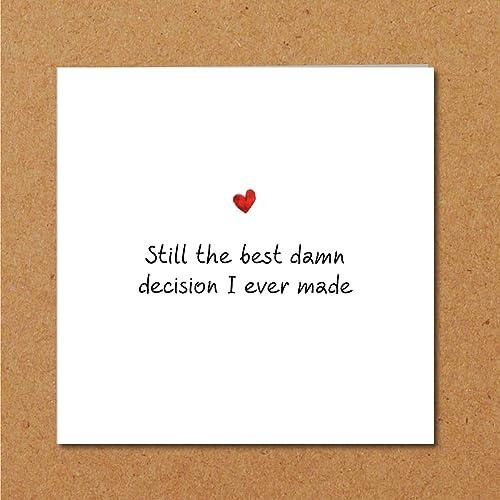 Anniversary Love Card Birthday Valentines Day Engagement