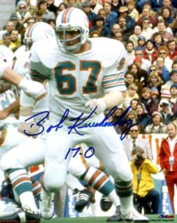 Signed Bob Kuechenberg 8x10 Photo Miami Dolphins Certified