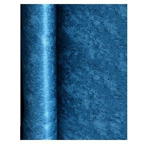 BleuMoo Dark Blue Non Woven Plain Wallpaper Living Room Background Wall Solid Color