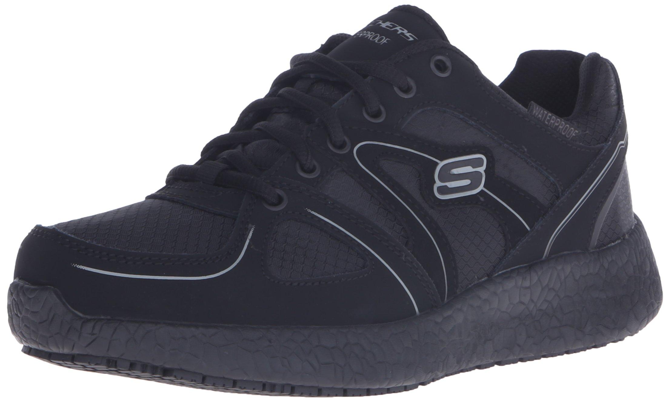 Skechers Work Women's Burst SR Gwinner Wide Work Shoe,Black,8.5 W US