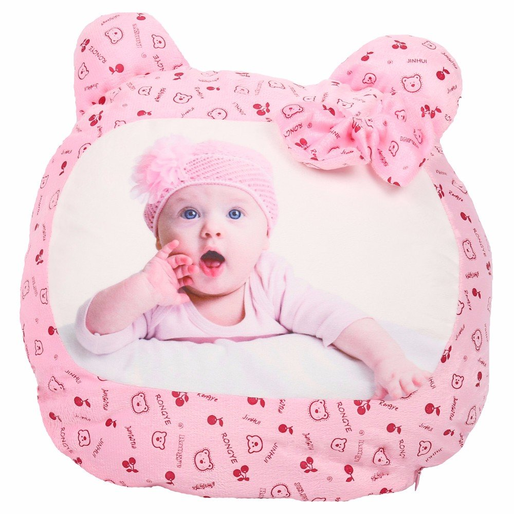 Lovely Sublimation Blank Pillow Case with Little Bear Shape Cartoon Fashion Cushion Cover Girls' gift