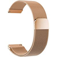 Correas para Relojes de Acero Inoxidable Milanese Mesh Correa de Reloj Magnética Reemplazo de la Banda de Reloj de…