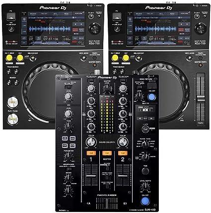 Amazon.com: Pioneer djm-450 mezclador DJ & (2) xdj-700 ...