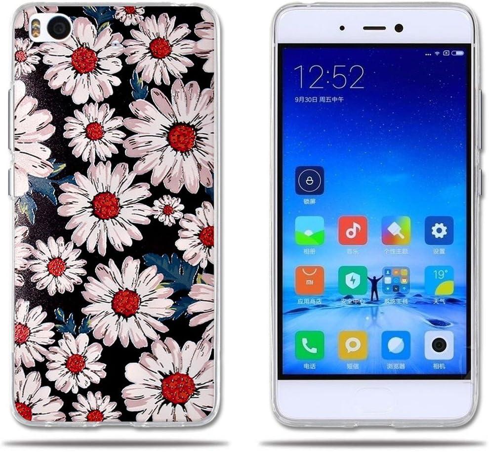 FUBAODA para Xiaomi Mi5S Funda TPU de Gel de Silicona, Fantasía Clásico con Flor, Carcasa Protectora de Goma para Xiaomi Mi5S (5.15