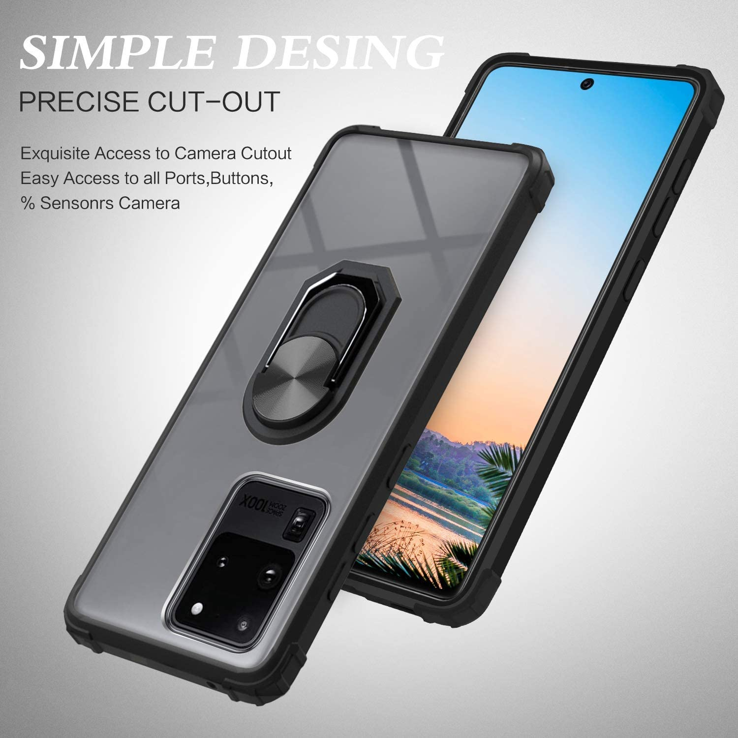 DOSNTO for Samsung Galaxy S20 Ultra Phone Case Clear Silicone ...