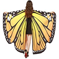 iDWZA Women Butterfly Wings Shawl Scarves Pixie Party Cosplay Costume Accessory