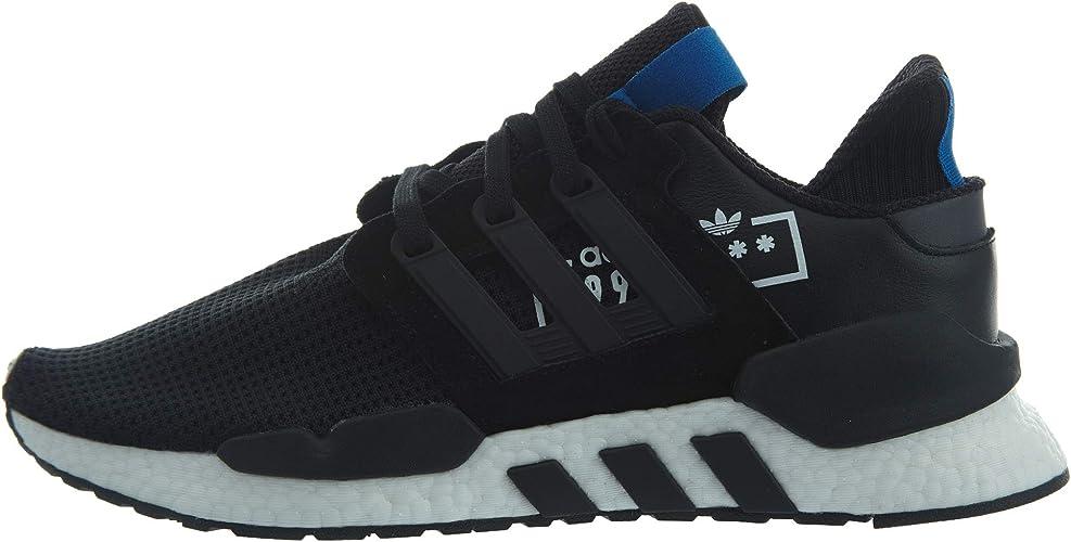adidas Men's EQT Support 91/18 Black/Black/Bluebird Shoes - D97061