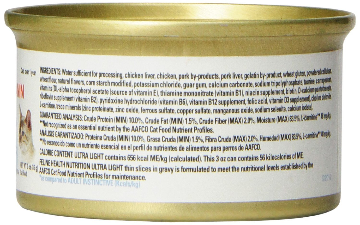 Amazon.com : Pack of 24, 3 OZ, Ultra Light Canned Cat Food : Pet Supplies