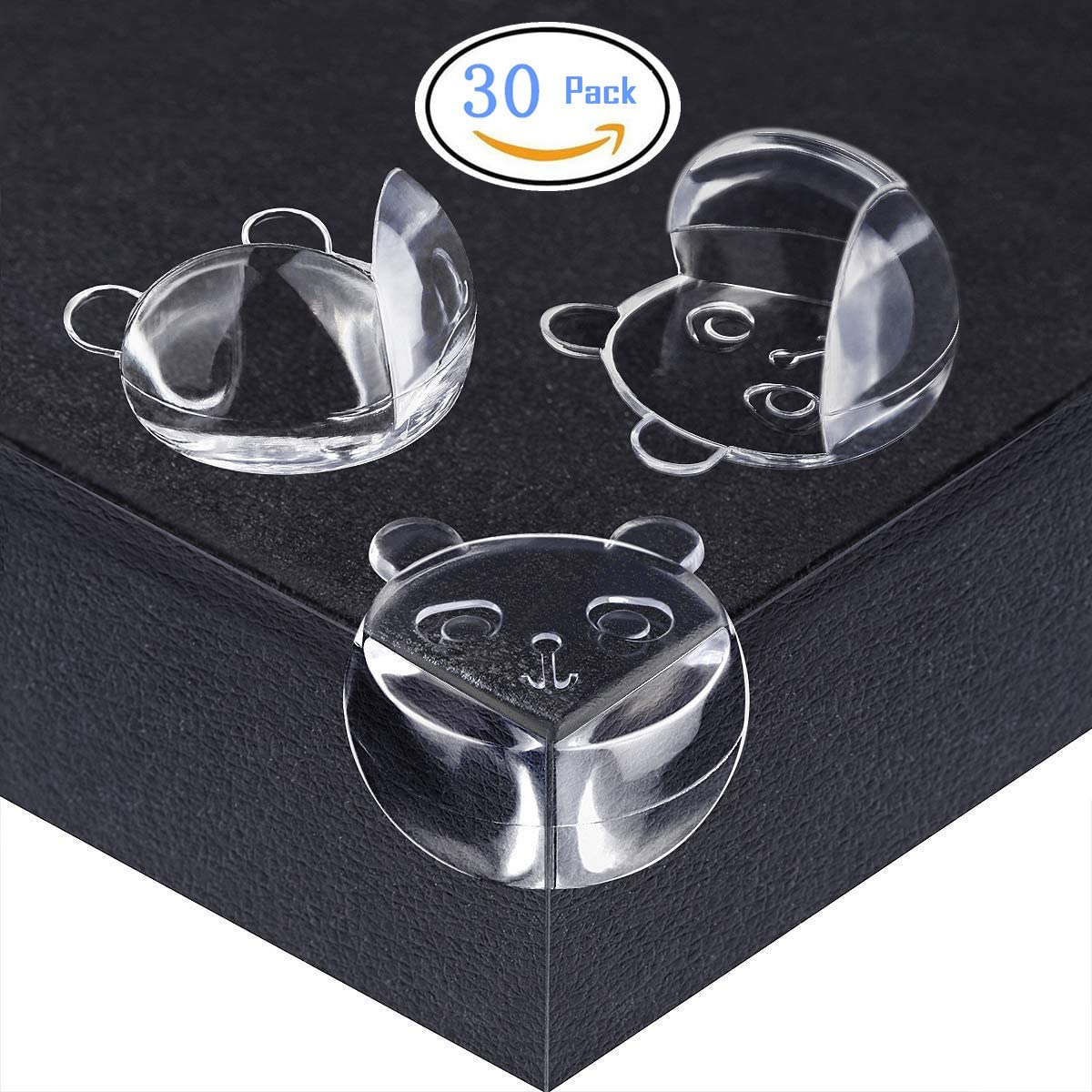 ITTA 30 Pack Corner Protectors For Kids Child Corner Guards For Table Furniture Safety Corners Desk Protector Lovely Bear Clear Corner Guards