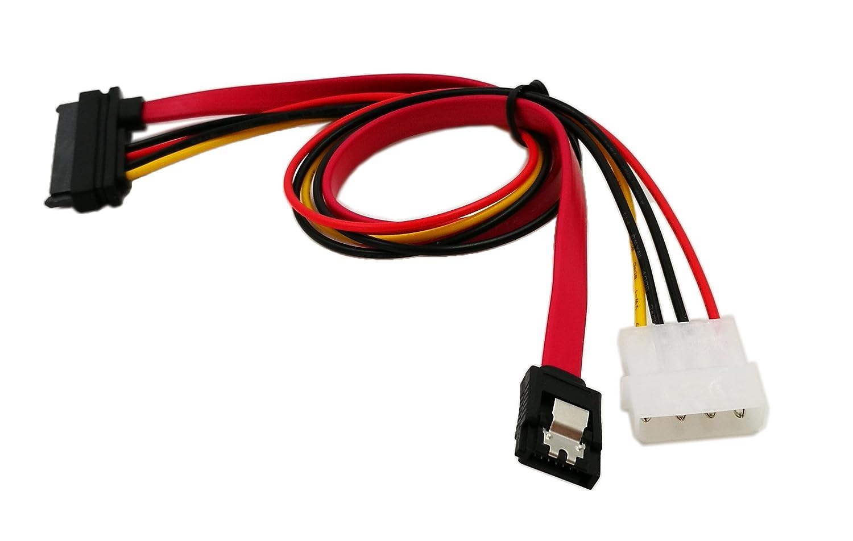 sata22pin a Datos + alimentaci/ón zdyCGTime Cable Combinado de alimentaci/ón y Datos SATA Serial ATA de 15 Pulgadas