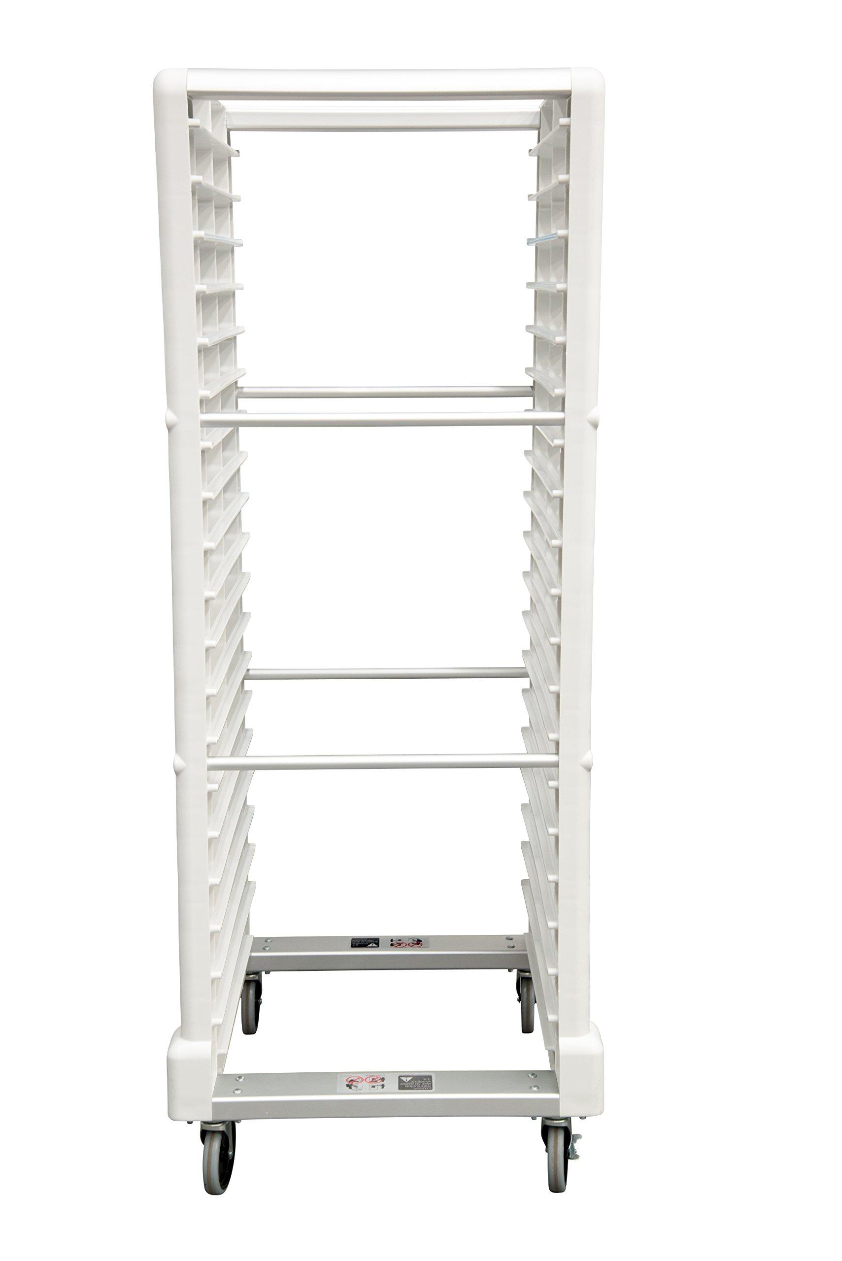 Rubbermaid Commercial ProServe Rack, 18 Slot, White