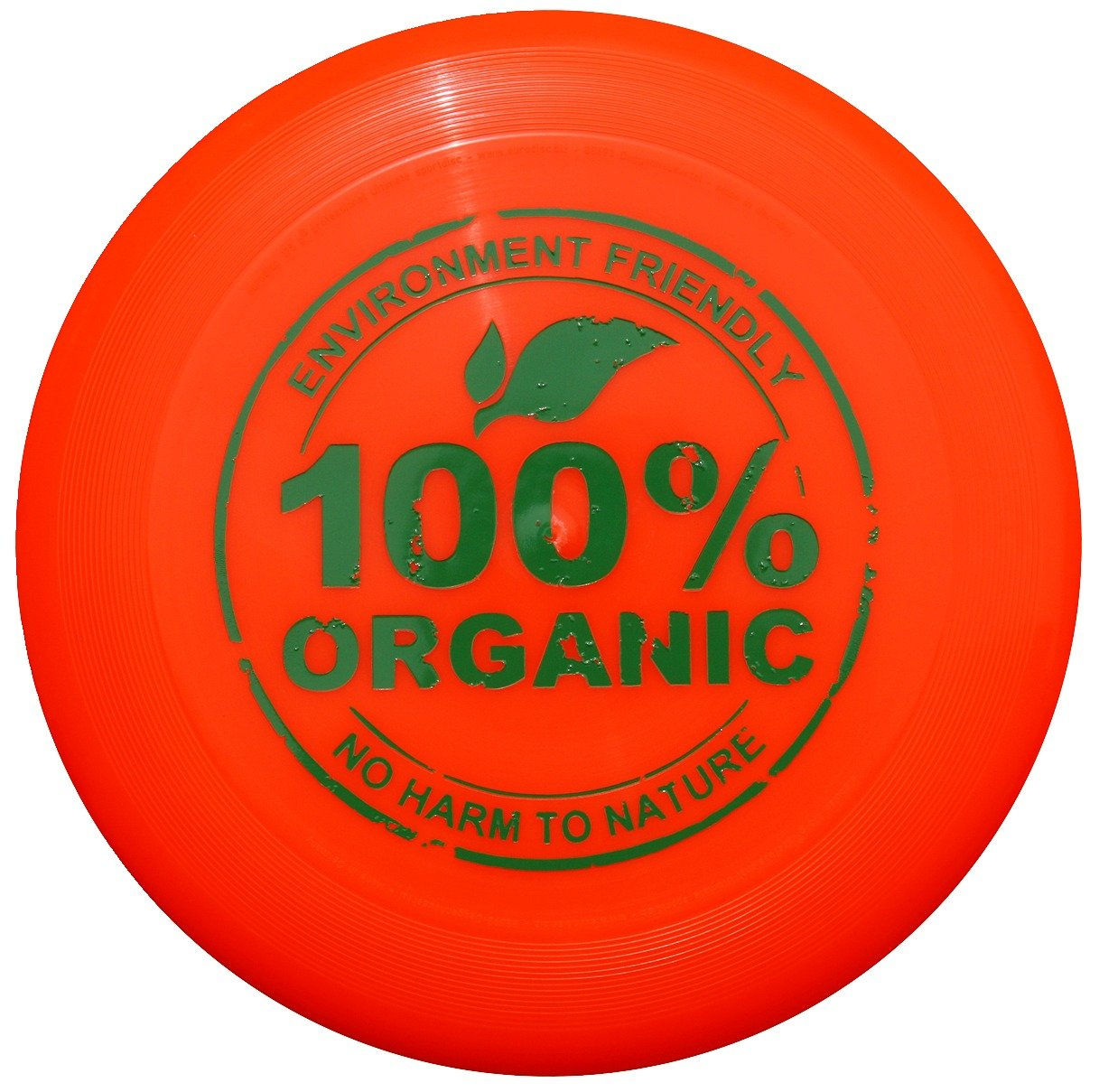 Eurodisc 175 g Ultimate Frisbee Disque volant Matière 98% Bio – Orange vif New Games - Frisbeesport
