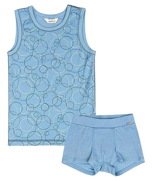joha Juego de ropa interior de joven 2 piezas Bubbles de lana de merino y Bio