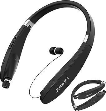 JYDMIX Auriculares Bluetooth, Auriculares inalámbricos Plegables y retráctiles Banda para el Cuello y micrófono, Auriculares Deportivos: Amazon.es: Electrónica