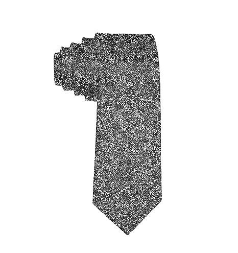MrDecor Corbata Plateada con Purpurina para Hombre: Amazon.es: Hogar