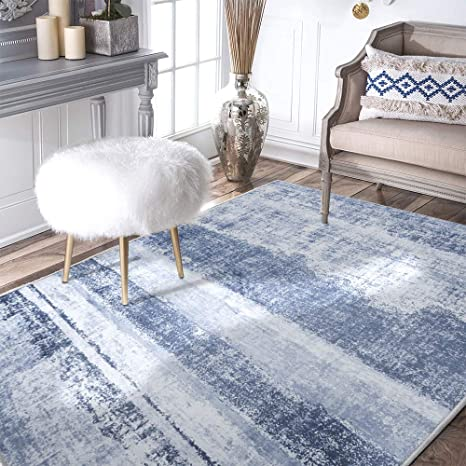amazon com area rug 3\u0027x5\u00273 vintage blue carpet indoor outdoor matamazon com area rug 3\u0027x5\u00273 vintage blue carpet indoor outdoor mat modern floorcover kitchen living room kitchen \u0026 dining