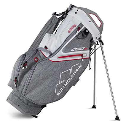 660152271ede Sun Mountain Golf 2018 C-130S Stand Golf Bag CHARCOAL-WHITE-RED ...
