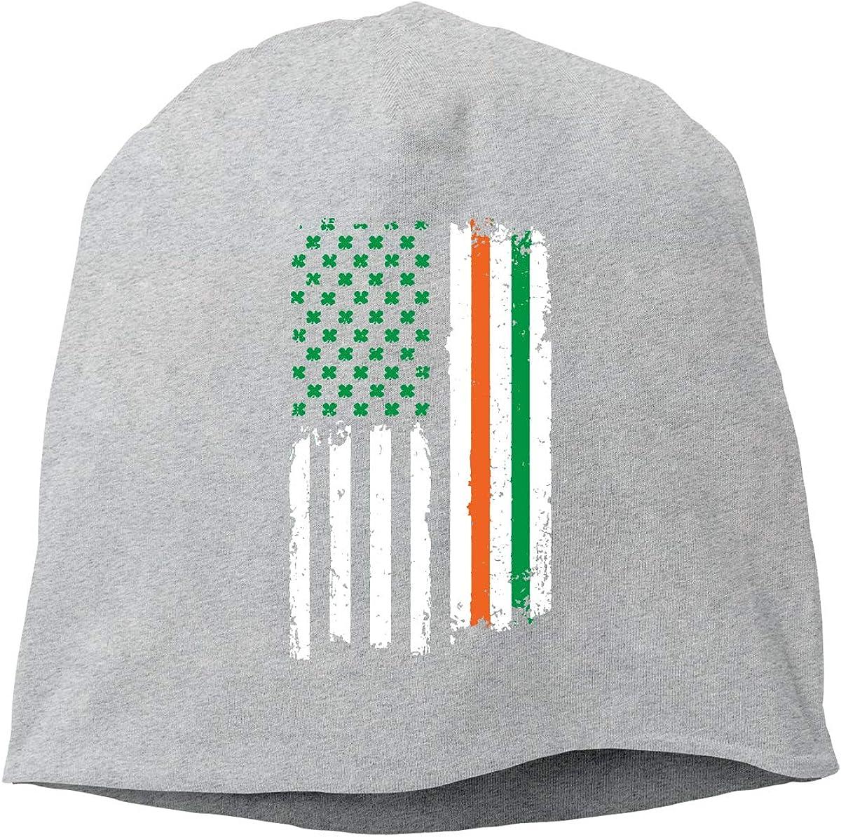 St Patricks Day Irish American USA Flag Unisex Knitted Hat Beanie Hat Warm Hats Skull Cap Beanie Hat