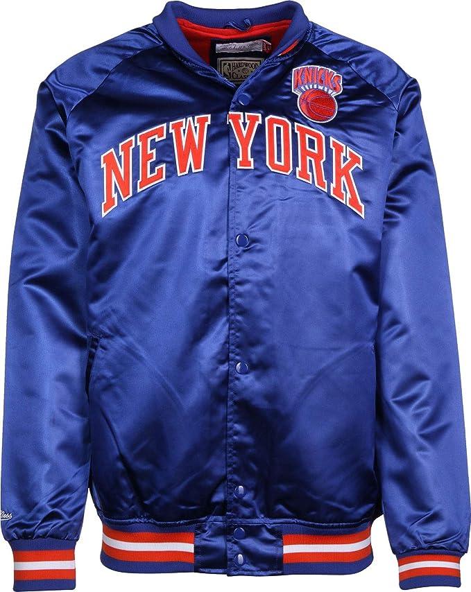 Mitchell & Ness NBA Satin NY Knicks Chaqueta universitaria ...