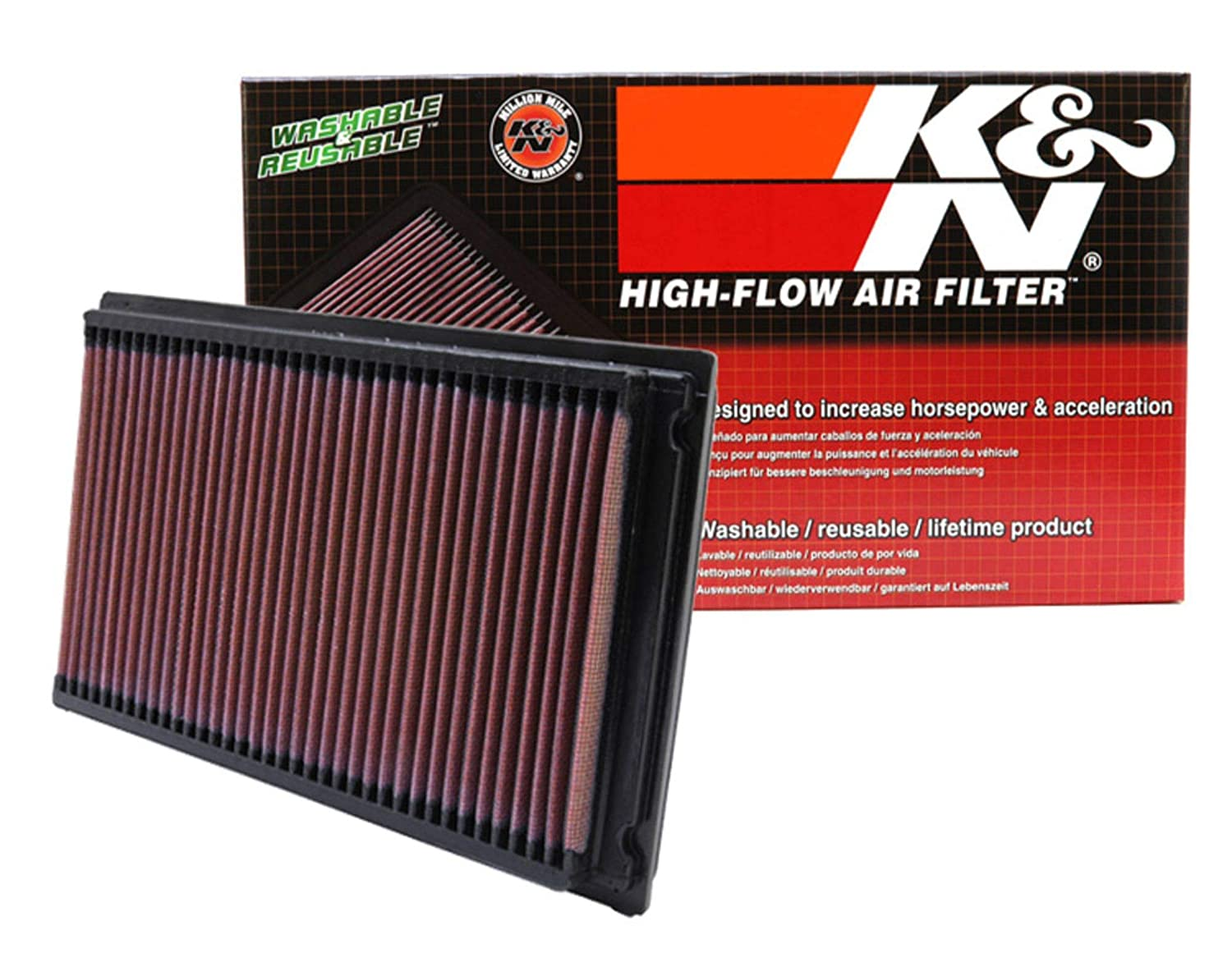 washable and reusable: 1981-2019 Nissan//Infiniti//Renault L4//V6 Maxima, Murano, Pathfinder, Altima, Elgrand, Quest, Terena, X-Trail, QX60, FX35 33-2031-2 K/&N engine air filter