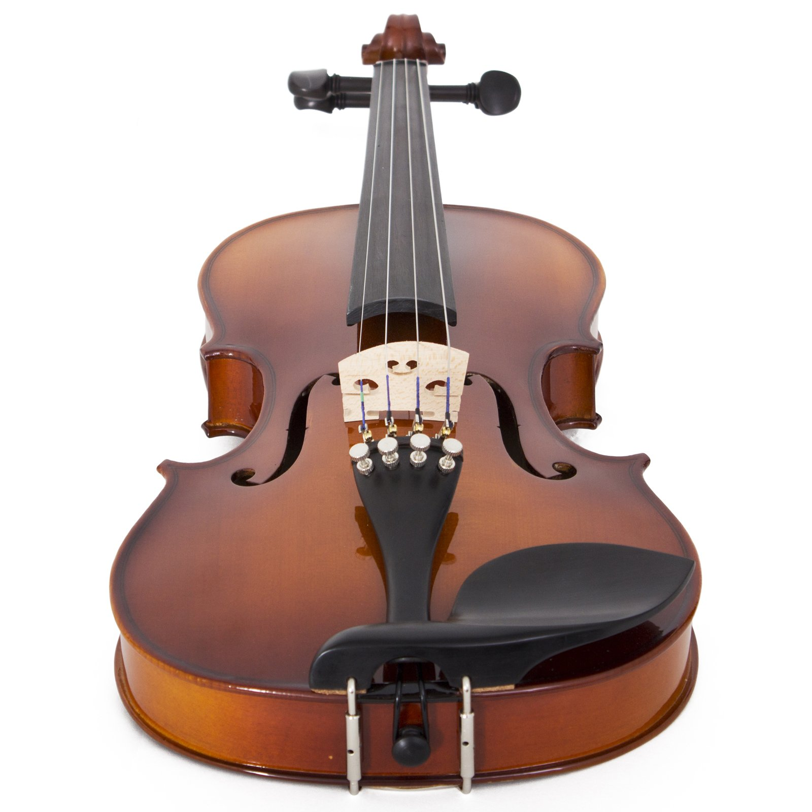 Cecilio CVN-320L Solidwood Ebony Fitted Left-Handed Violin with D'Addario Prelude Strings, Size 4/4 (Full Size) by Cecilio (Image #4)