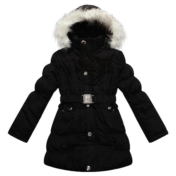 Amazon.com: Richie House Big Girls' Padded Winter Jacket with Belt ...