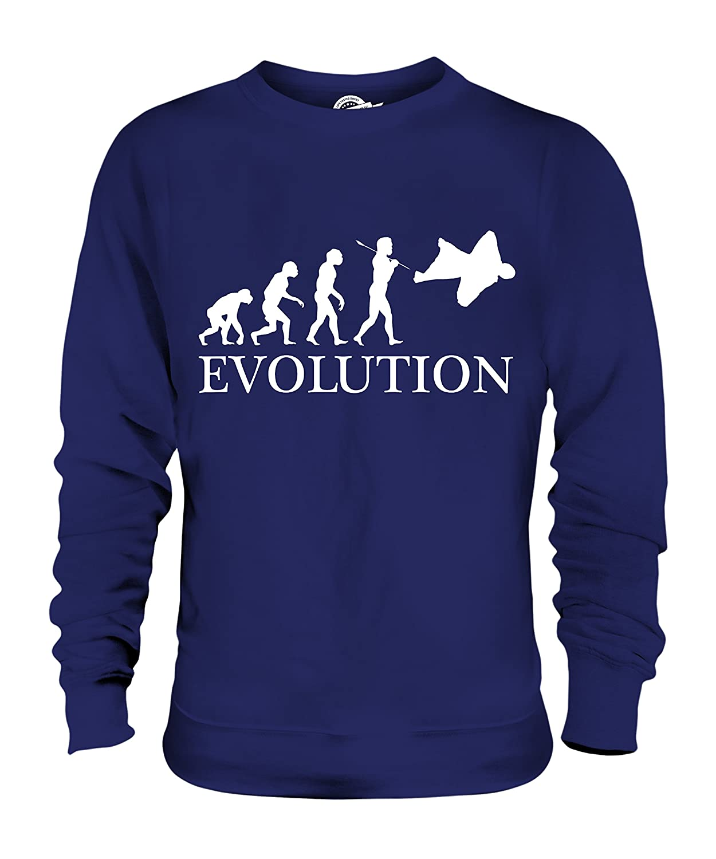 CandyMix Wingsuit Evolution Des Menschen Unisex Herren Damen Sweatshirt:  Amazon.de: Bekleidung