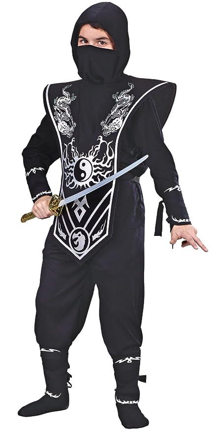 Amazon.com: Disfraz niño Ninja Lord, M, Plateado: Toys & Games