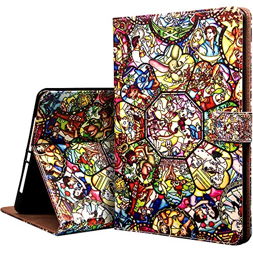 New iPad 2017 9.7 Inch Case, Onelee - Disney All Characters Slim Premium PU Leather Smart Stand Case Back Protector for New iPad 2017 9.7 inch