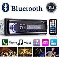 Autoradio Bluetooth, Digital Media Ricevitore Auto audio stereo con vivavoce Bluetooth, Supporto Auto Radio FM Riproduttore MP3 Player USB/SD/AUX con Telecomando