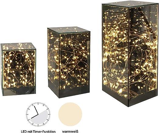 Casablanca - Caja de Luces LED (Cristal, con Temporizador, 6 h/18 h, para 2 Pilas AA): Amazon.es: Juguetes y juegos