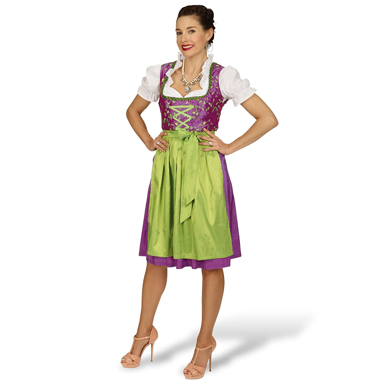 Dirndl Kleid Franzi mit Bluse, Schürze bestickt Trachten Mode fürs Oktoberfest