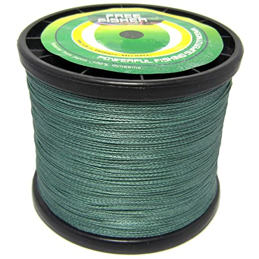 Free Fisher hilo trenzado de pesca Verde verde Talla:0,7 mm
