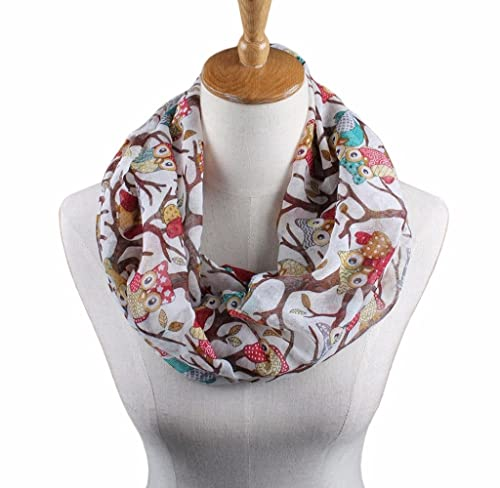 Ularma Moda Las mujeres señoras Owl Patrón impreso bufanda cálida manton