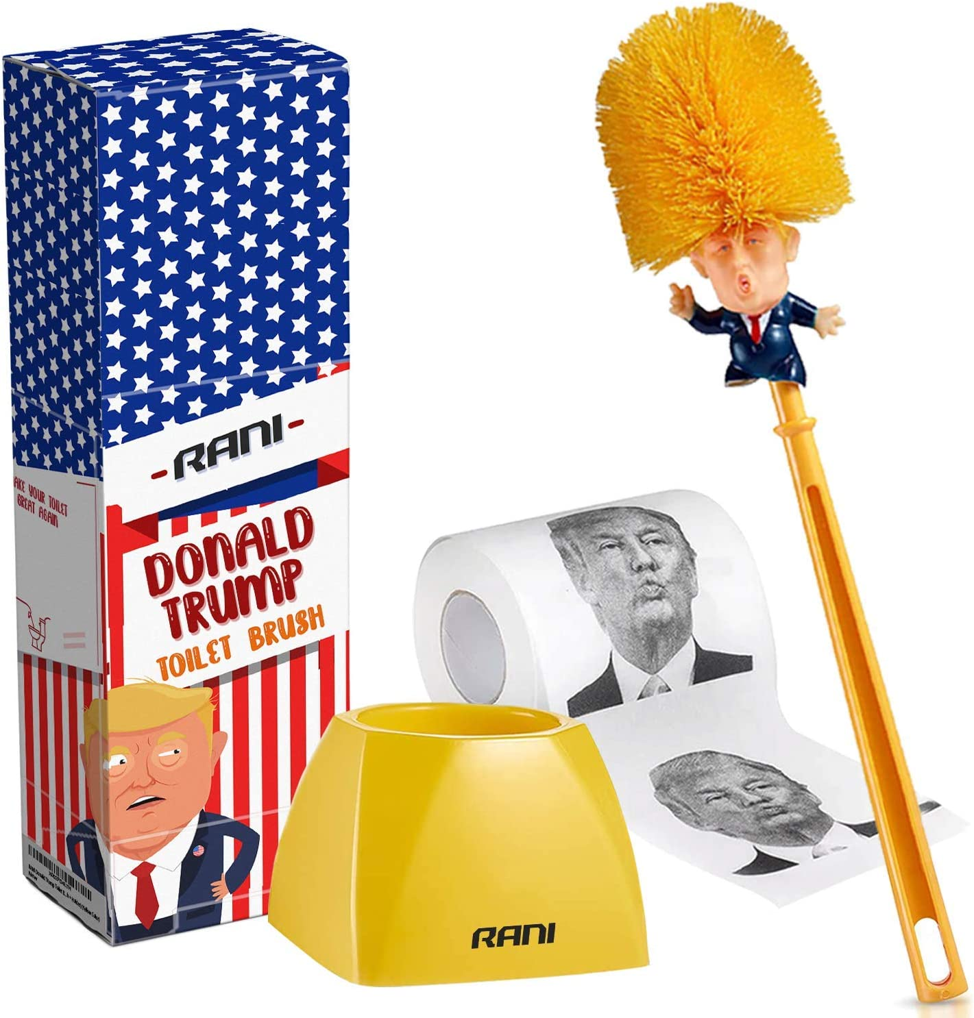 Bathroom Donald Trump Toilet Bowl Brush Gag Wash Toilet Brush Home Newe LrJNE